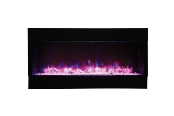 "Amantii True-View Series Indoor/Outdoor Electric Fireplace, 50"" 1"