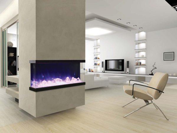"Amantii True-View Series Indoor/Outdoor Electric Fireplace, 50"" 3"