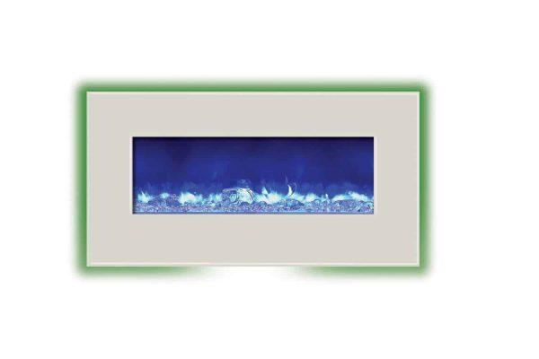 Amantii WM-BI-34-4423-WHTGLS 34 inch Electric Unit With 44 x 23 inch White Glass Surround 4