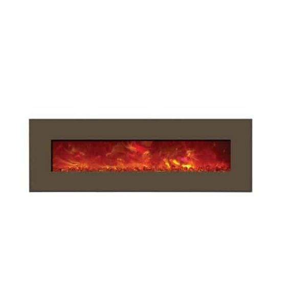 Amantii WM-BI-43-5123-MODERNAUBURN 43 In. Electric Fireplace With 51 x 23 In. Modern Auburn Steel Surround