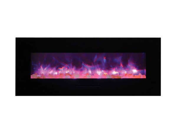 """Amantii Wall Mount / Flush Mount Series Electric Fireplace, 58"""" 2"""