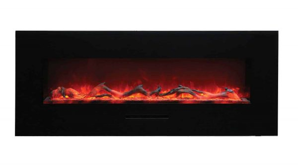 """Amantii Wall Mount / Flush Mount Series Electric Fireplace, 58"""" 4"""