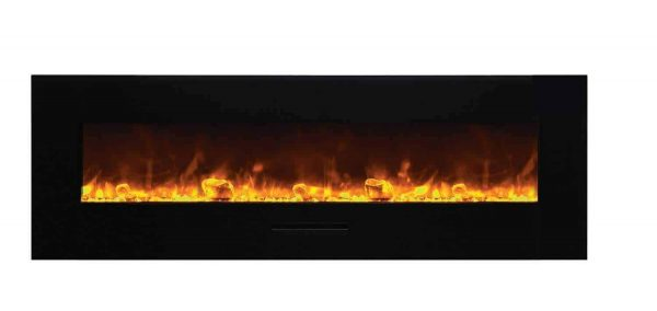 "Amantii Wall Mount / Flush Mount Series Electric Fireplace, 70"" 1"