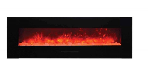 "Amantii Wall Mount / Flush Mount Series Electric Fireplace, 70"" 2"