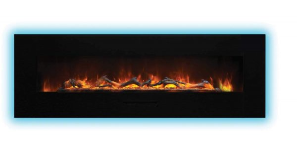 "Amantii Wall Mount / Flush Mount Series Electric Fireplace, 70"" 4"