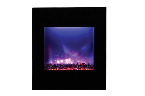 """Amantii Zero Clearance Series Built-In Electric Fireplace, 18"""" 2"""