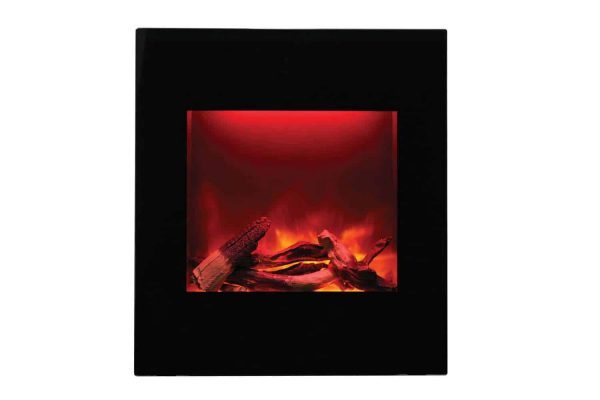 """Amantii Zero Clearance Series Built-In Electric Fireplace, 18"""" 3"""