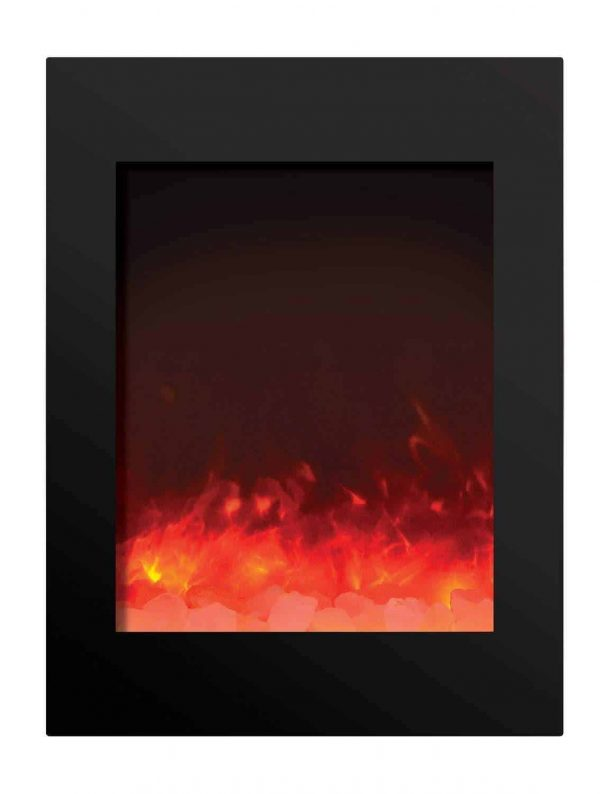 "Amantii Zero Clearance Series Built-In Electric Fireplace, 25"" 1"