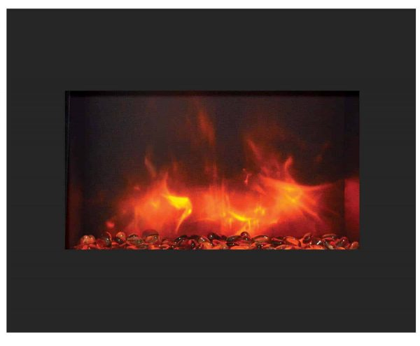 "Amantii Zero Clearance Series Built-In Electric Fireplace, 26"" 1"