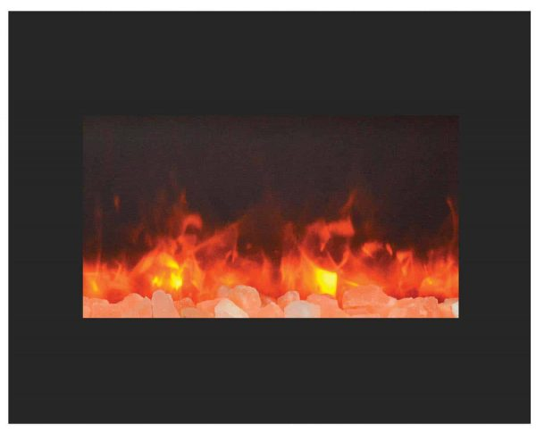 "Amantii Zero Clearance Series Built-In Electric Fireplace, 26"" 2"