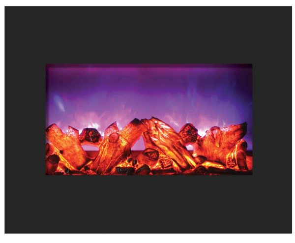 "Amantii Zero Clearance Series Built-In Electric Fireplace, 26"" 3"