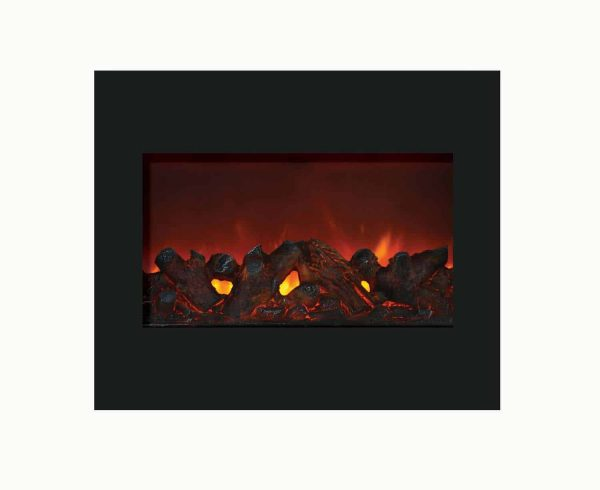 """Amantii Zero Clearance Series Built-In Electric Fireplace, 30"""" 1"""