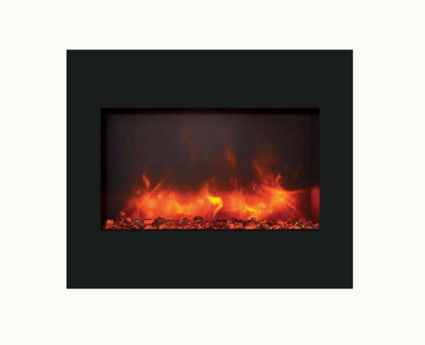 """Amantii Zero Clearance Series Built-In Electric Fireplace, 30"""" 3"""