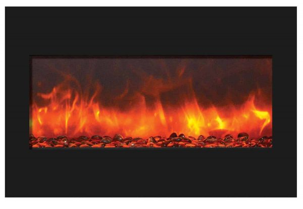 """Amantii Zero Clearance Series Built-In Electric Fireplace, 33"""" 2"""