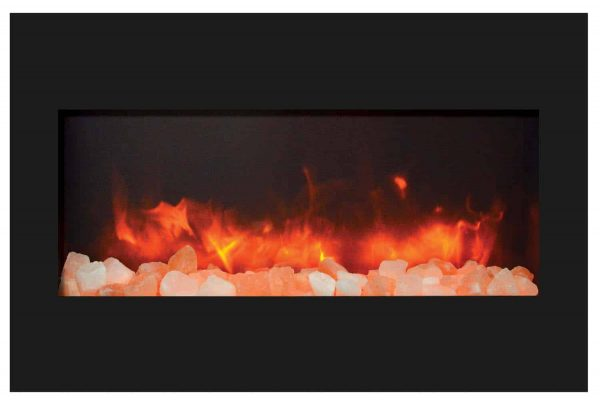 """Amantii Zero Clearance Series Built-In Electric Fireplace, 33"""" 3"""