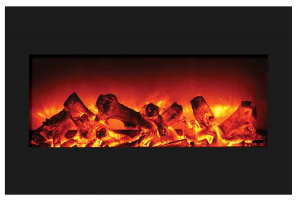"""Amantii Zero Clearance Series Built-In Electric Fireplace, 33"""" 4"""