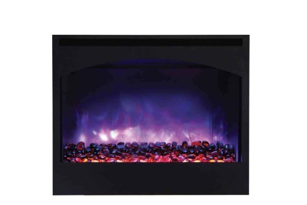 "Amantii Zero Clearance Series Built-In Electric Fireplace with Arched Frame, 31"" 1"