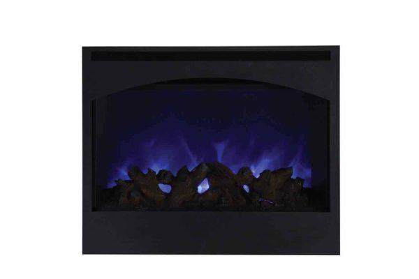 "Amantii Zero Clearance Series Built-In Electric Fireplace with Arched Frame, 31"" 2"