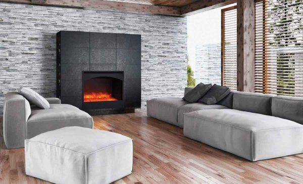Amantii Zero Clearance Series Built-In Electric Fireplace with Arched Frame
