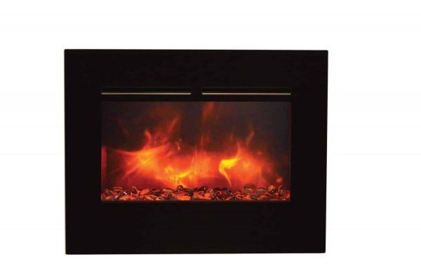 "Amantii Zero Clearance Series Built-In Flush Mount Electric Fireplace, 26"" 1"