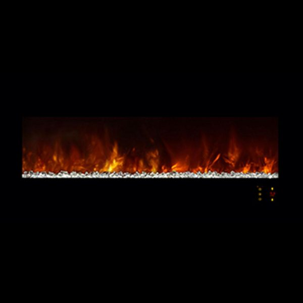 "Ambiance 45"" Clx2 Electric Fireplace With Black Glass Front 3"