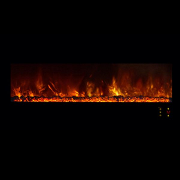 """Ambiance 45"""" Clx2 Electric Fireplace With Black Stainless Steel Front 1"""