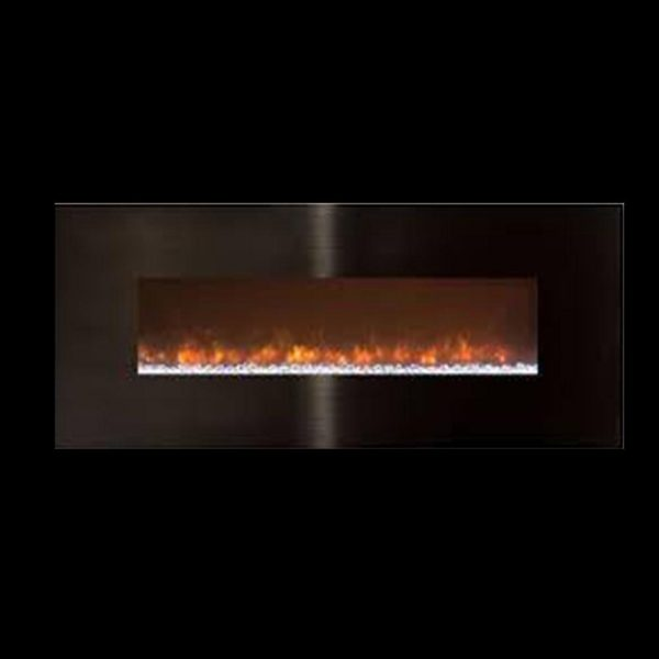 """Ambiance 45"""" Clx2 Electric Fireplace With Black Stainless Steel Front 3"""