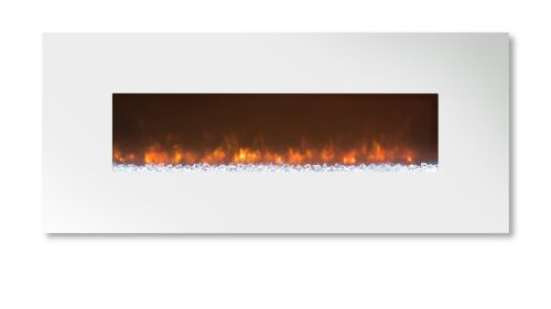 "Ambiance 45"" Clx2 Electric Fireplace With Flat White Steel Front"