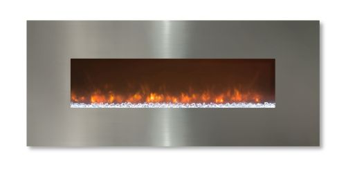 "Ambiance 45"" Clx2 Electric Fireplace With Stainless Steel Front"