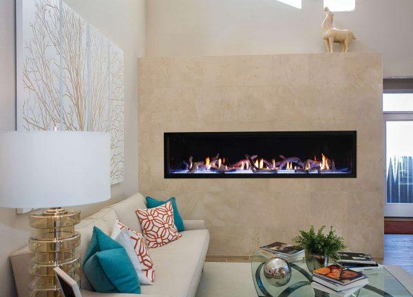 "American Hearth Boulevard Direct Vent Linear Contemporary 72"" Fireplace - Liquid Propane"