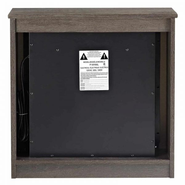 Ameriwood Home Bruxton Electric Fireplace, Multiple Colors 8