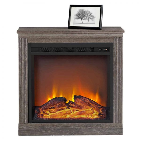 Ameriwood Home Bruxton Simple Fireplace, White 9