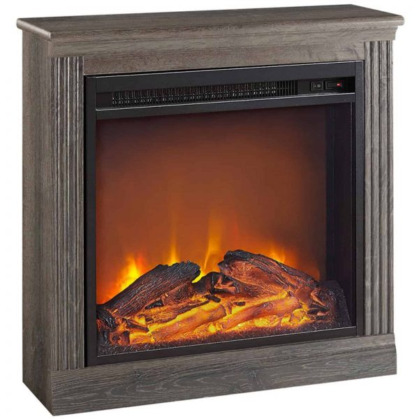 Ameriwood Home Bruxton Simple Fireplace, White 1