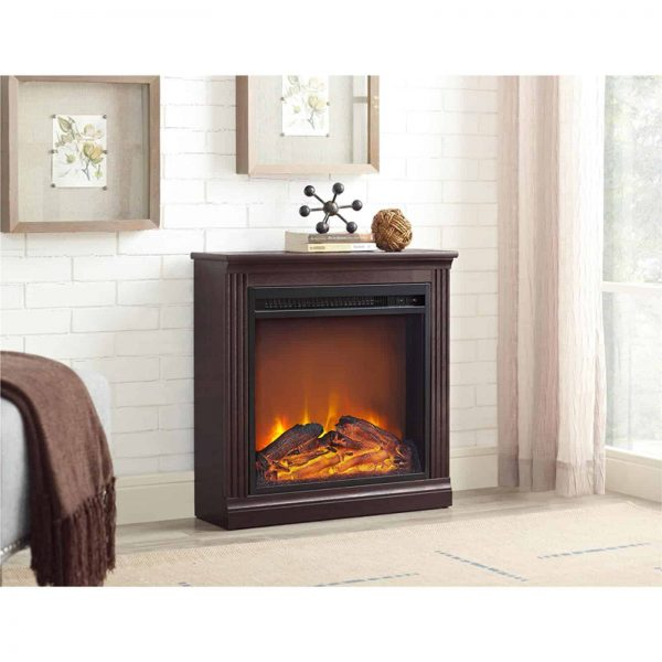 Ameriwood Home Bruxton Simple Fireplace, White 4