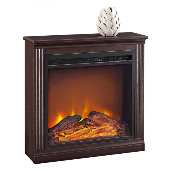 Ameriwood Home Bruxton Simple Fireplace, White 5