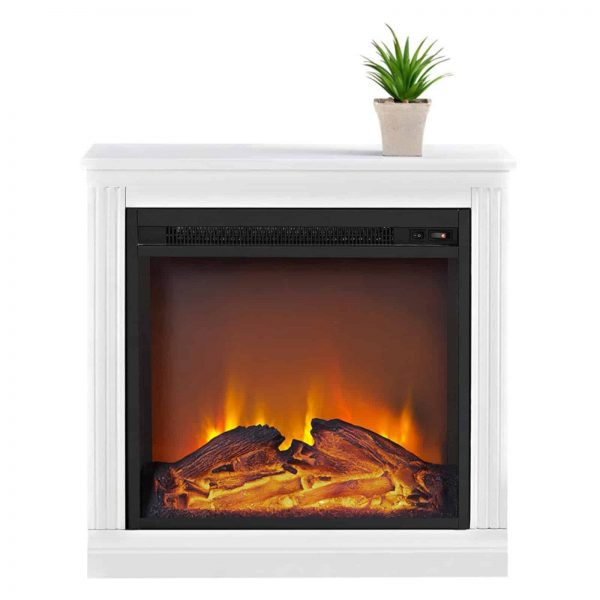 Ameriwood Home Bruxton Simple Fireplace, White 7