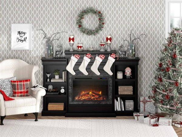 Ameriwood Home Lamont Mantel Fireplace, Black 1