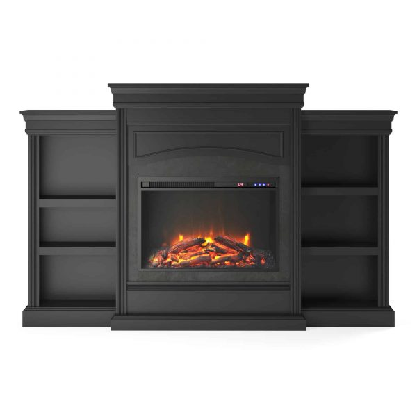 Ameriwood Home Lamont Mantel Fireplace, Black 2