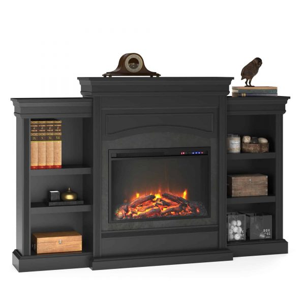 Ameriwood Home Lamont Mantel Fireplace, Black 3