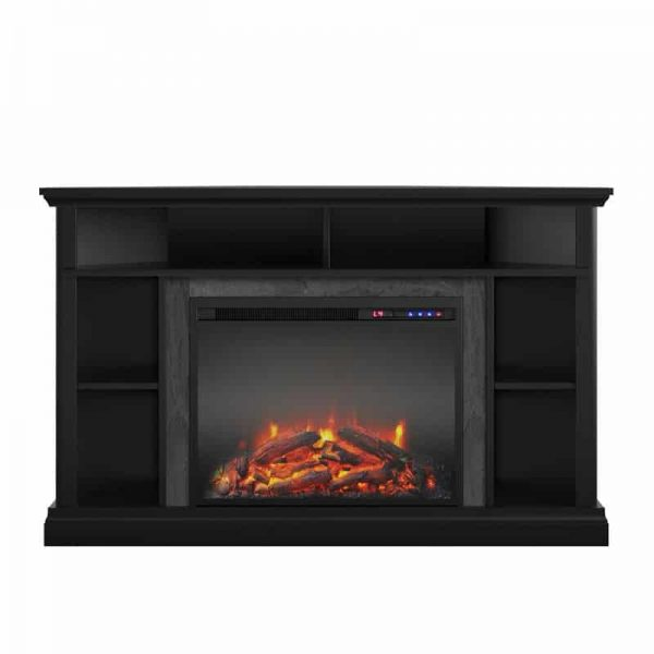 "Ameriwood Home Overland Electric Corner Fireplace up to 50"" in Black 1"