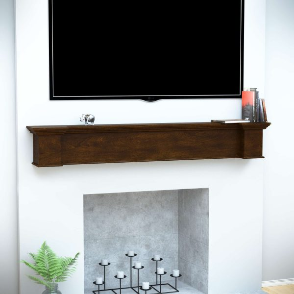 Anders Fireplace Mantel Shelf, Traditional, American Walnut 8