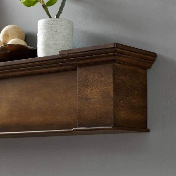 Anders Fireplace Mantel Shelf, Traditional, American Walnut 10