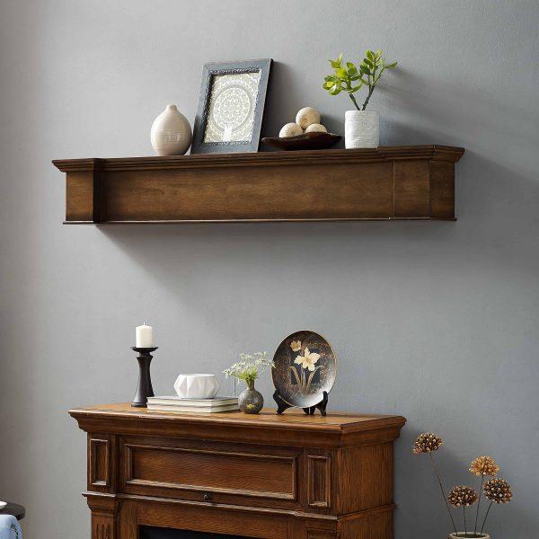 Anders Fireplace Mantel Shelf, Traditional, American Walnut 11