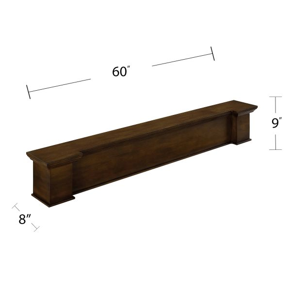 Anders Fireplace Mantel Shelf, Traditional, American Walnut 1