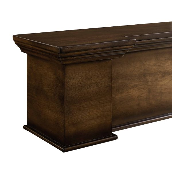Anders Fireplace Mantel Shelf, Traditional, American Walnut 2