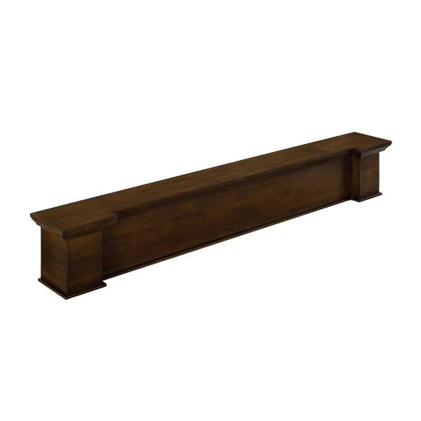 Anders Fireplace Mantel Shelf, Traditional, American Walnut 4