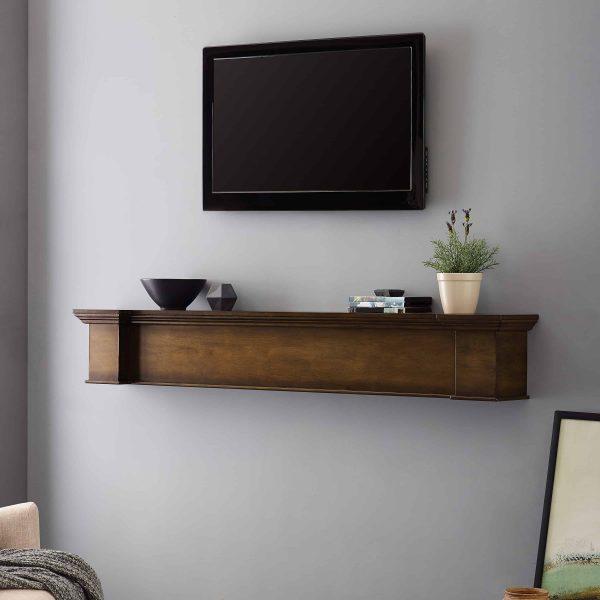 Anders Fireplace Mantel Shelf, Traditional, American Walnut 7