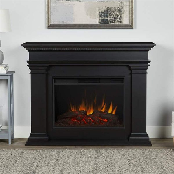 Antero Grand Electric Fireplace in Black by Real Flame 1