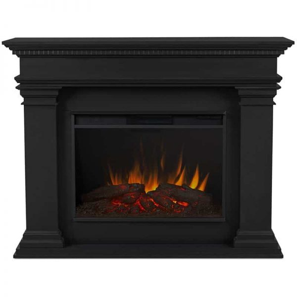 Antero Grand Electric Fireplace in Black by Real Flame 2