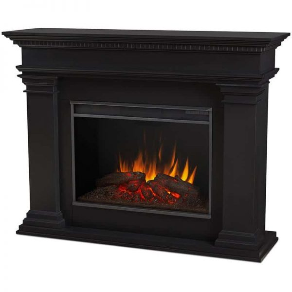 Antero Grand Electric Fireplace in Black by Real Flame 3